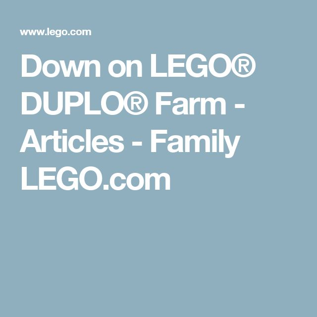 Down on LEGO® DUPLO® Farm - Articles - Family LEGO.com