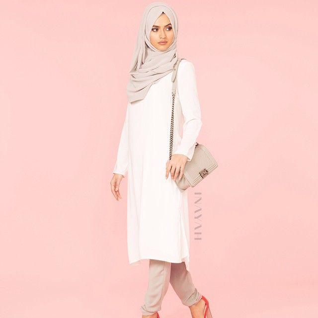 INAYAH   White Crepe Midi   Grey Crossover Trousers   Feather Grey Maxi Georgette   www.inayahcollection.com #covered #Hijab #whitedress #midi #dress #dresses #islamicfashion #modestfashion #modesty #modeststreestfashion #hijabfashion #modeststreetstyle #modestabayas #modestdresses #ootd #cardigan #springfashion #INAYAH #covereddresses
