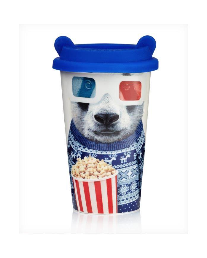 Taza de café portable y reutilizable! PANDA