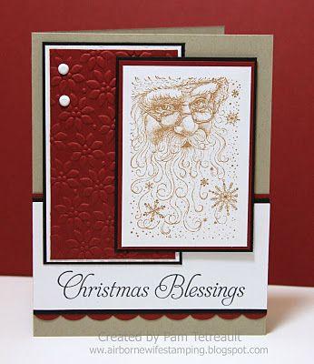 Delta Santa Claus Collage, Hero Arts sentiment: Crafts Ideascardsscrapbook, Christmas Cards, Christmas Blessed, Blessed W Santa, W Santa Clause, Cards Layout, Santa Cards, Paper Crafts, Stamps Spots