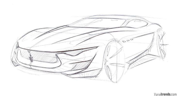 Maserati Alfieri concept sketch – Form Trends