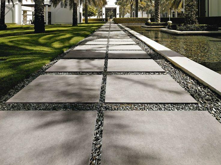Pavimento per esterni in gres porcellanato effetto cemento MEMORIES by #CeramicaSantAgostino #repin