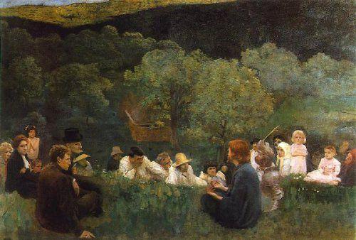 Karoly Ferenczy (1862 – 1917, Hungarian) Sermon On The Mountain