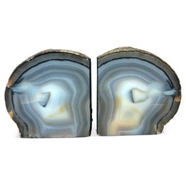 Check out this item at One Kings Lane! Blue & Gray Quartz Bookends