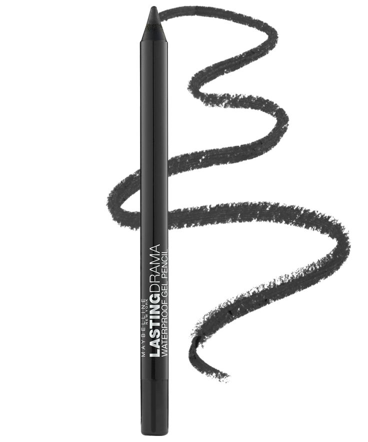 8 Gel Eyeliners That Don't Smudge—Seriously - Maybelline Eye Studio Lasting Drama Waterproof Gel Eyeliner Pencil from InStyle.com