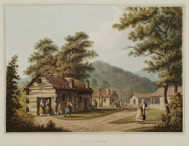 The village of Çalikkavak near Smyadovo, Bulgaria.1810