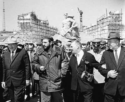 Fidel Castro in Stalingrad  USSR  Фидель Кастро в Волгограде (Сталинграде) #ФидельКастро #Куба #СССР #Сталинград #Stalingrad #USSR #FidelCastro
