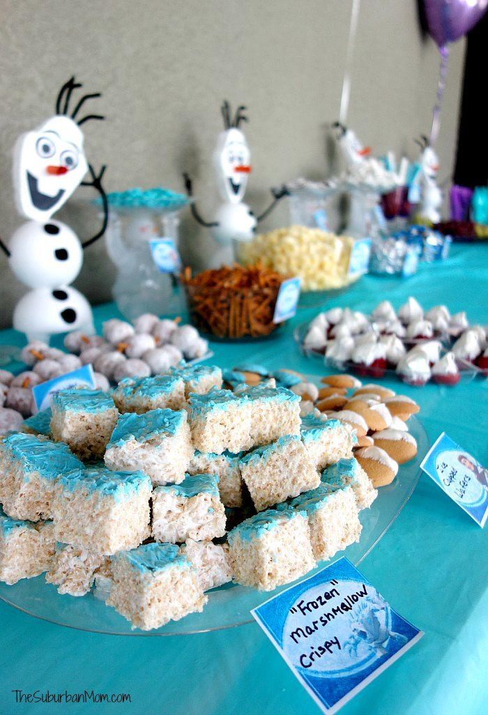 Frozen birthday party decorations for a winter wonderland ...