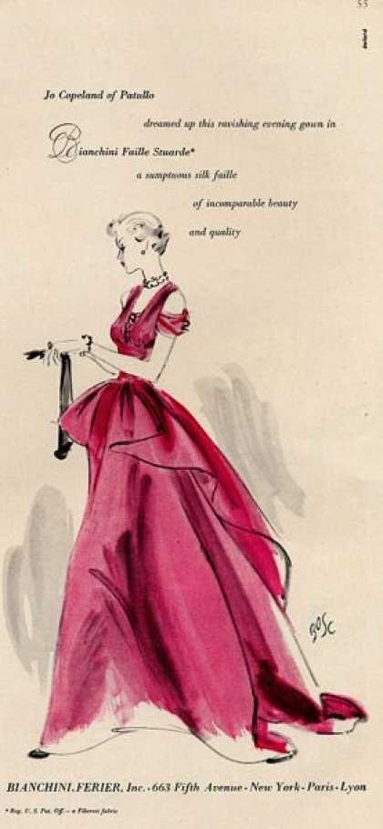 Bianchini Ferier Jo Copeland dress Art (1949)