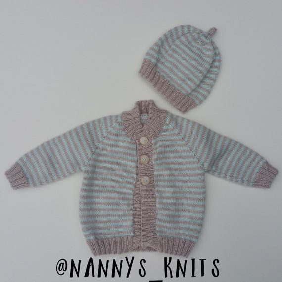 Hey, I found this really awesome Etsy listing at https://www.etsy.com/uk/listing/242590272/knitted-baby-cardigan-and-beanie
