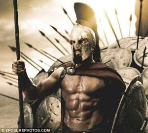 Gerard Butler 300 Workout Spartan King Leonidas