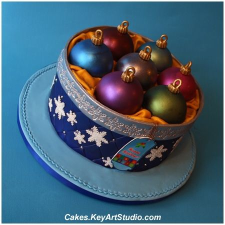 Christmas Ornaments Cake