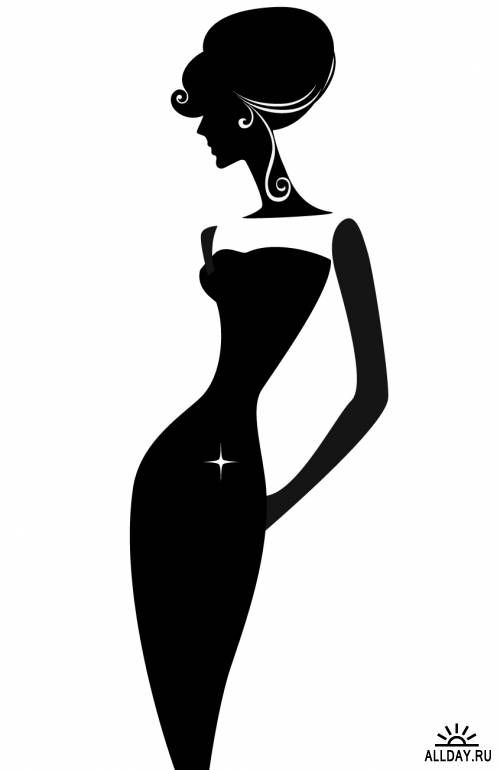 Silhouette of a elegant woman