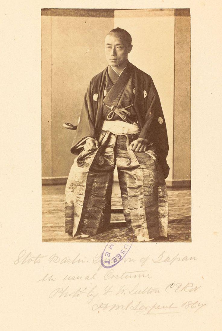 Portrait du shōgun Tokugawa Yoshinobu en costume ordinaire