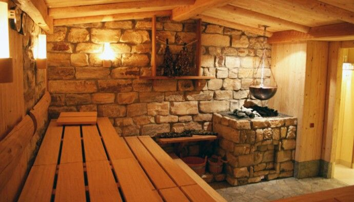 A beautiful sauna I could have one in a spa room in the back #dreambig