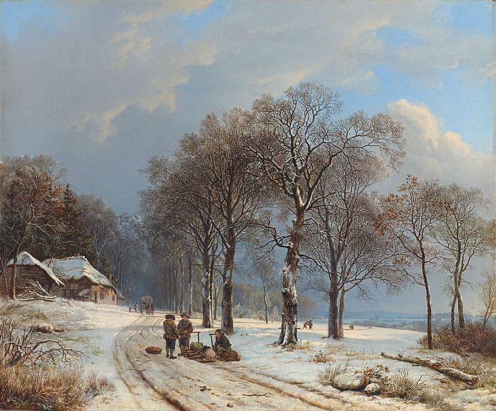 Barend Cornelis Koekkoek (1803–1862), Winterlandschap,1835 - 1838, olieverf op doek, 62 x 75 cm, Rijksmuseum Amsterdam
