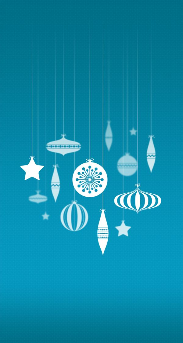 Christmas Baubles Wallpaper for iPhone 5/5c/5s on Behance