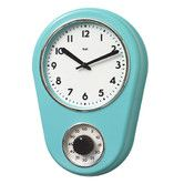 Found it at Wayfair - Retro Kitchen Timer Wall Clock in Turquoise