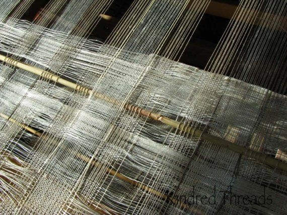 Window transparency, silk, linen, and stainless steel yarns
