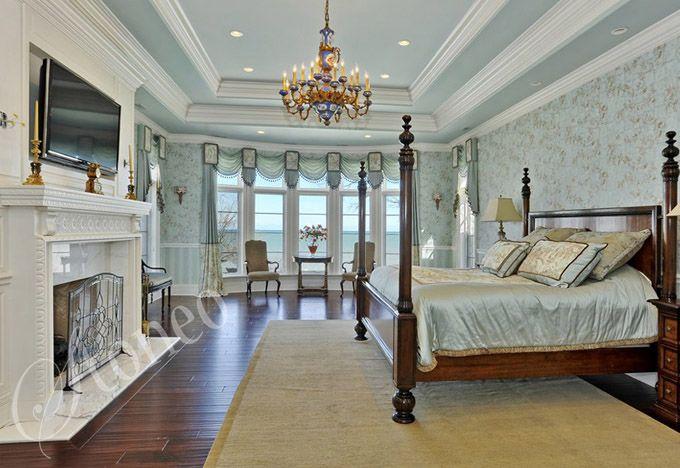 Sypialnia wzorowana na stylu rokoko