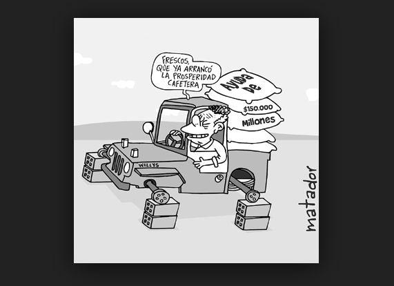 Frescos que ya arrancó la prosperidad cafetera... #caricatura #ParoAgrario