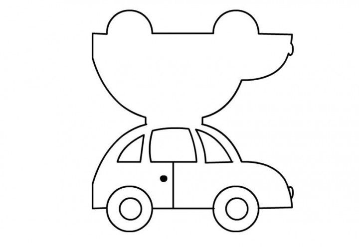 Машинки шаблоны для открытки