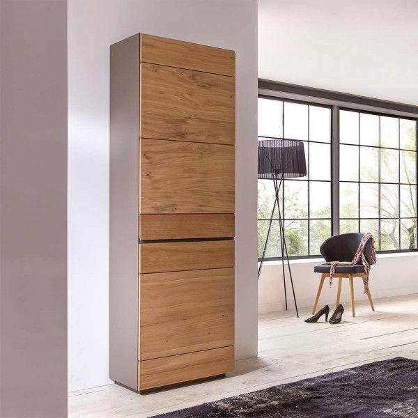 Dielenschrank Caranis In Taupe Mit Wildeiche Furniert 60 Cm Garderobenschrank Garderobe Schrank Dielenschrank Ikea