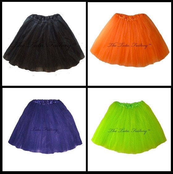 Halloween Tutus .  XSmall thru XLarge Size Adult by TutuFactory1