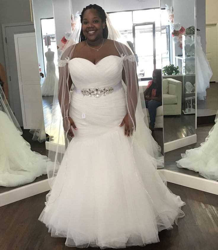 This strapless Plus Size Fit-n-Flare Wedding Dress can be recreated for you as shown or with any design changes you need.  We are custom dressmakers near Dallas Texas.  We provide #weddingdresses to brides of all sizes.  Our #brides can also request #replicas of haute couture #bridal #dresses that will have the same look & style as the original but cost less.  This is a great option for a bride on a tighter budget.  Contact us for pricing of any dress on our main website DariusCordell.com