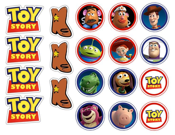 19 Toy Story Party Collection Edible Rice Wafer Paper Cupcake Topper