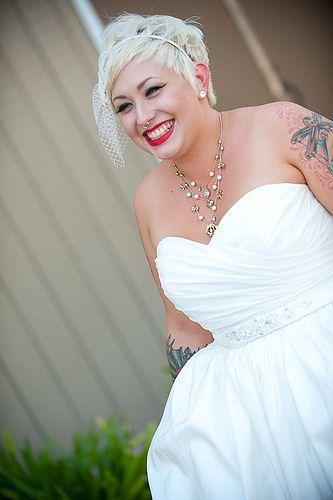 Short hair wedding ideas.