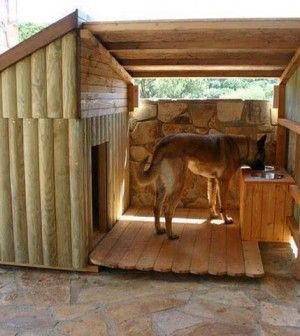 Dog house. With Laserlite for the roof over outdoor piece