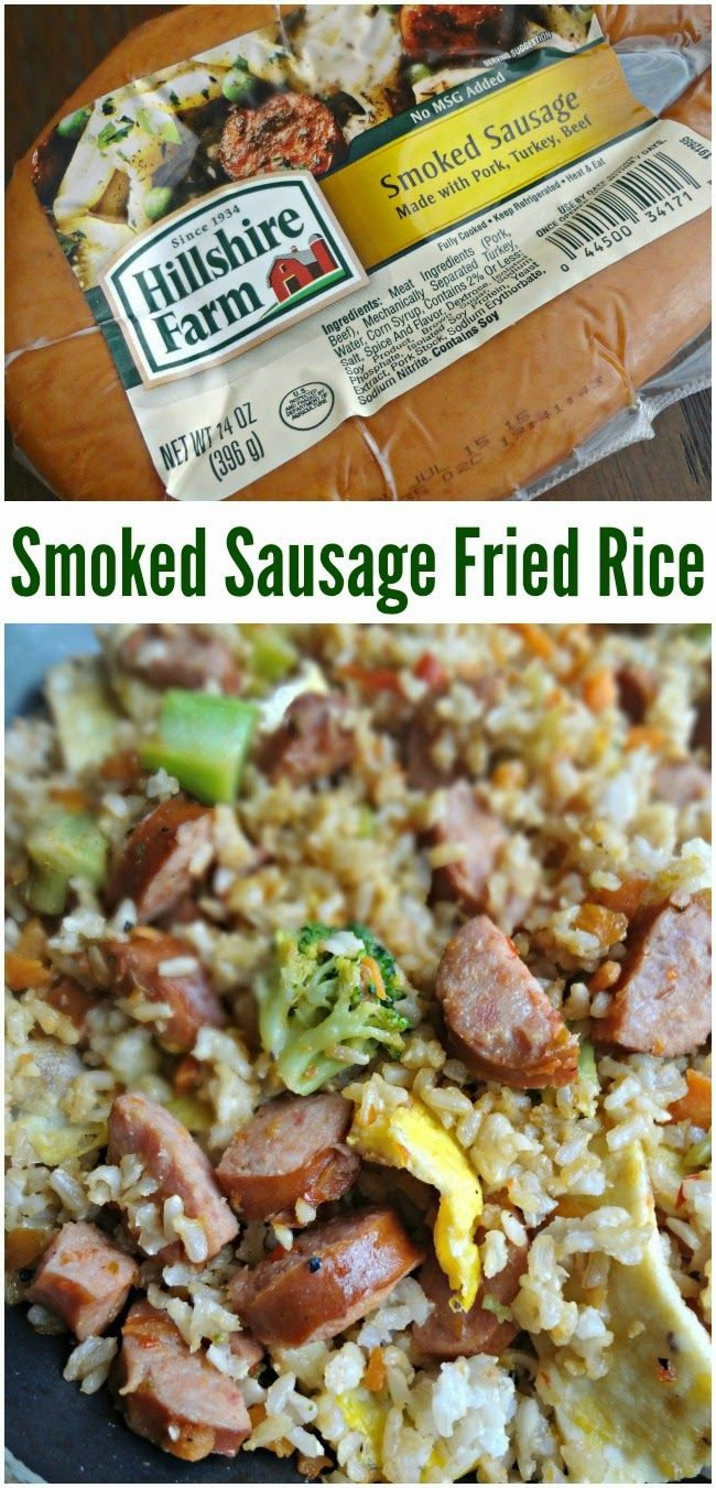 The Cooking Actress: Smoked Sausage Fried Rice #HillshireSausage --An easy dinner recipe that you'll love!