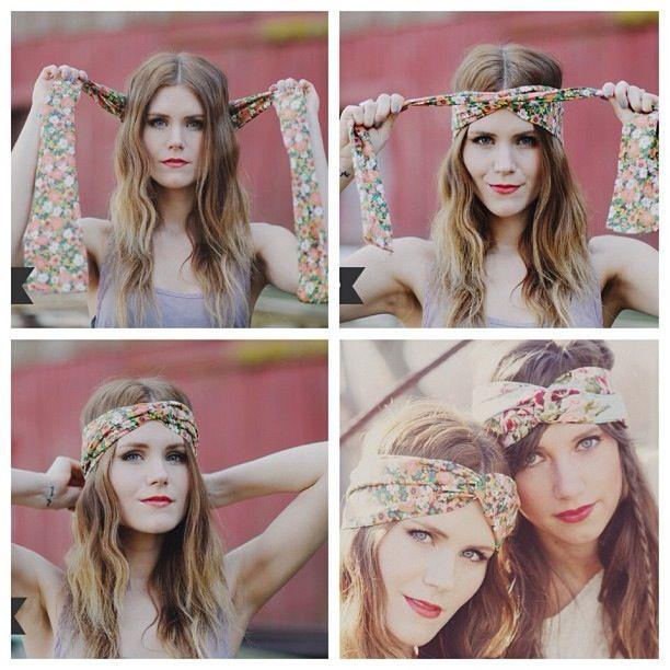 Boho DIY headband floral