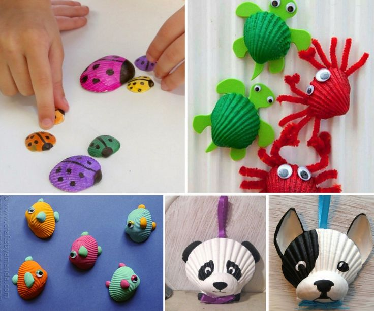 Shell Craft - lots of awesome ideas in our post.
