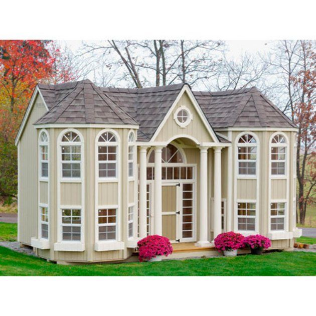 Little Cottage 10 X 16 Grand Portico Mansion Wood Playhouse Children And  Adults Can Enjoy This Incredible Detailed And Design Playhouse. Part 80