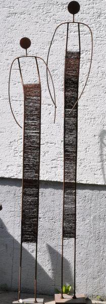 Die besten 25+ Metall gartenskulpturen Ideen auf Pinterest - gartendeko aus stein und metall