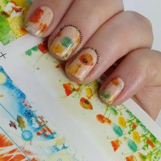 Leonie's Nailart: Full Nail Flower Waterdecals, review for Born Pret...