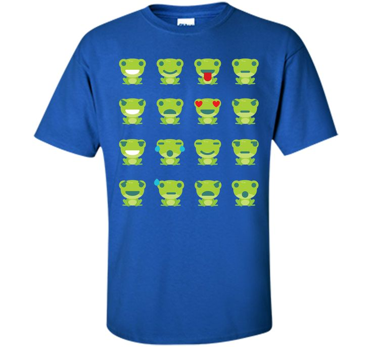 Frog Emoji 16 Different Facial Expressions T-Shirt