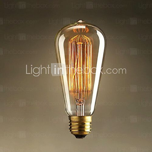 40W E27 Edison retro light bulb ST64 (220-240V) - GBP £ 5.03