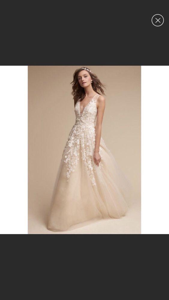Bhldn Ariane Wedding Gown Size 12 Pre Owned Fashion Clothing
