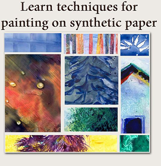 49 best yupo papier images on pinterest watercolor painting creating texture with watercolor yupo synthetic paper by janice tingum fandeluxe Gallery