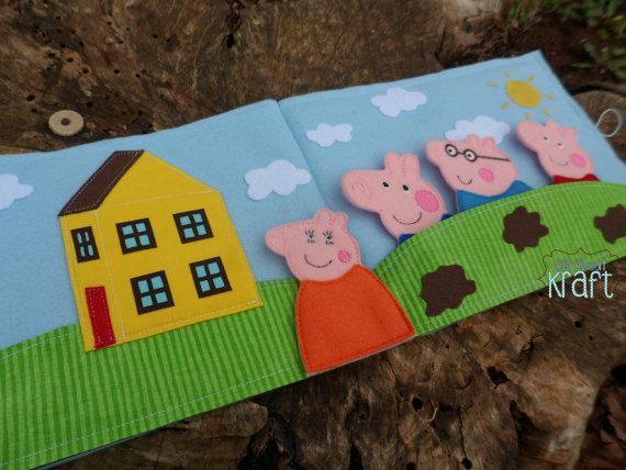 Hey, I found this really awesome Etsy listing at https://www.etsy.com/listing/230272138/happy-pigs-finger-puppets-pig-family