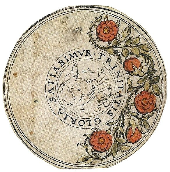 Holbein's design for a medallion for Princess Mary, 1530s
