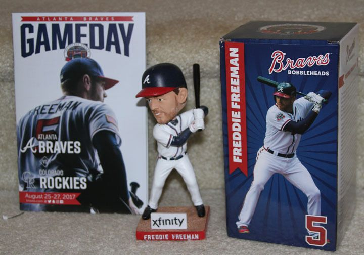 2017 Freddie Freeman Atlanta Braves SGA SunTrust Park Bobblehead 8/25 & Program | Sports Mem, Cards & Fan Shop, Fan Apparel & Souvenirs, Baseball-MLB | eBay!