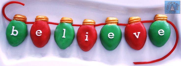 Lightbulb Christmas sugar cookies