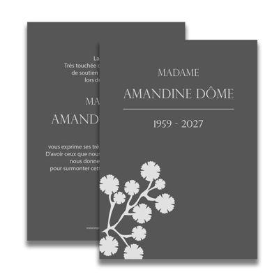 carte de deuil neutre pour remercier apres un deces With chambre bébé design avec remerciement deces fleurs