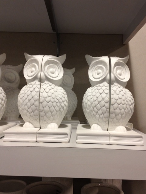 Owl bookends!  I need these for my Percy Jackson and Greek mythology shelves!