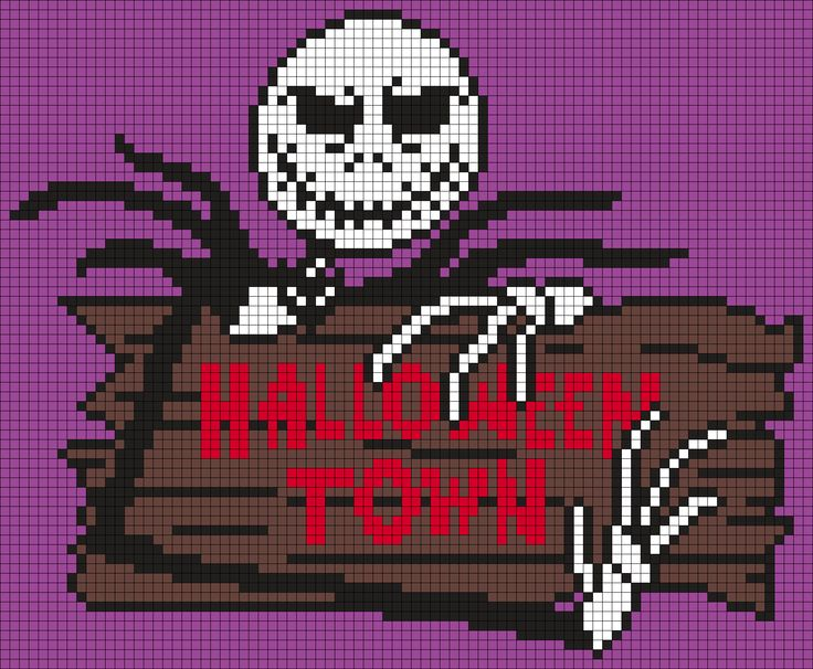100 best Nightmare Before Christmas Perler Beads/Pixel art images ...