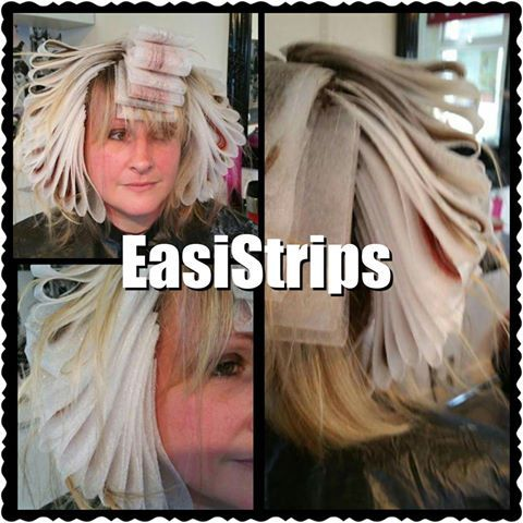 EasiStrips Standard 30 Size  The home to a Reusable, foam based strip for colouring clients hair with.   1 box could last over 200 clients! Huge Time Saver - On average 50% per colour client Save Money More Profits Heat Resistant Water Proof Works with all colouring techniques Semi Transparent  No Slippage A much nicer experience for clients Easy to wash easy to dry Fun to work with Makes colouring a breeze